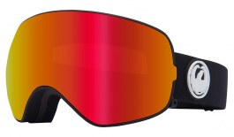 Dragon X2 Ski Goggles - Black / LumaLens Red Ion + LumaLens Rose