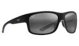 Maui Jim Southern Cross Sunglasses - Soft Black with Sea Blue and Grey / Neutral Grey Polarised