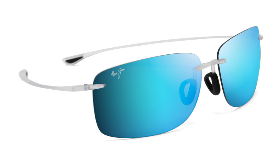 Maui Jim Hema Sunglasses - Matte Crystal / Blue Hawaii Polarised