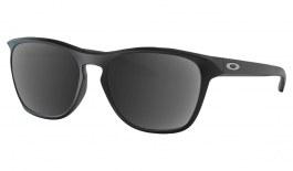 Oakley Manorburn Prescription Sunglasses - Matte Black (Chrome Icon)