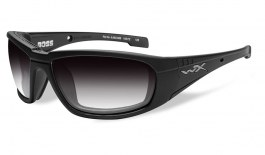 81495c6f54 Wiley X Boss Sunglasses - Matte Black   Light Adjusting Smoke Grey  Photochromic
