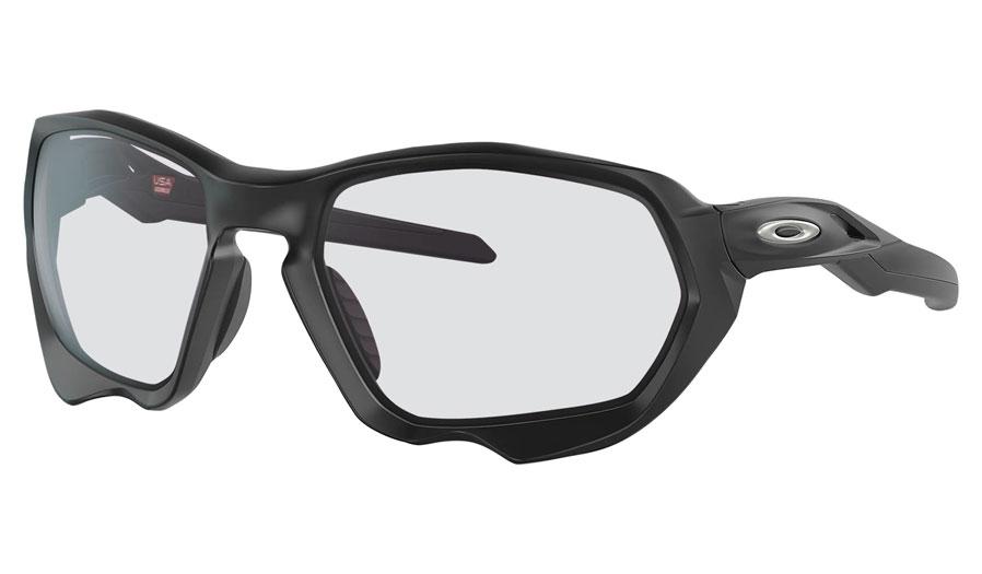 Oakley Plazma Prescription Sunglasses - Matte Black (Chrome Icon)