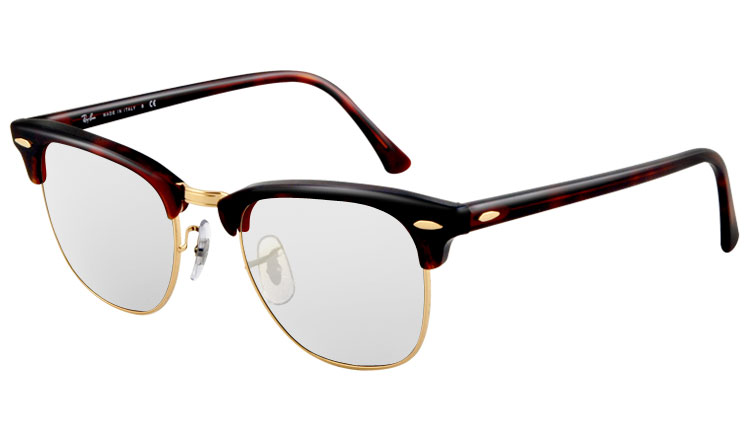 ray ban clubmaster clear lens