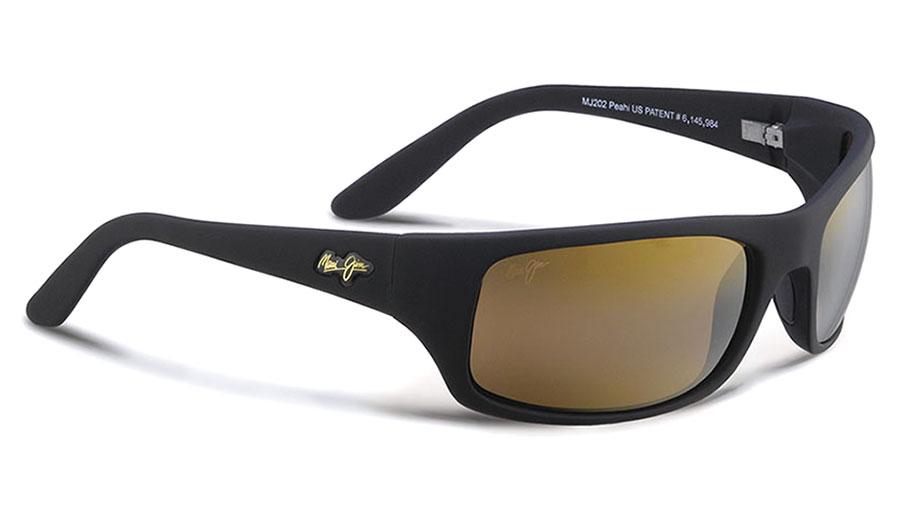 Maui Jim Peahi Sunglasses - Matte Black / HCL Bronze Polarised