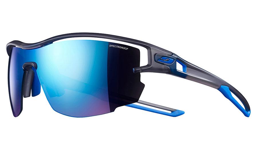 Julbo Aero Sunglasses - Translucent Grey & Blue / Spectron 3 CF Blue