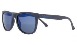 Red Bull Lake Sunglasses - Matte Dark Blue / Smoke Blue Mirror Polarised