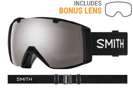 Smith Optics I/O Prescription Ski Goggles - Black / ChromaPop Sun Platinum Mirror + ChromaPop Storm Rose Flash