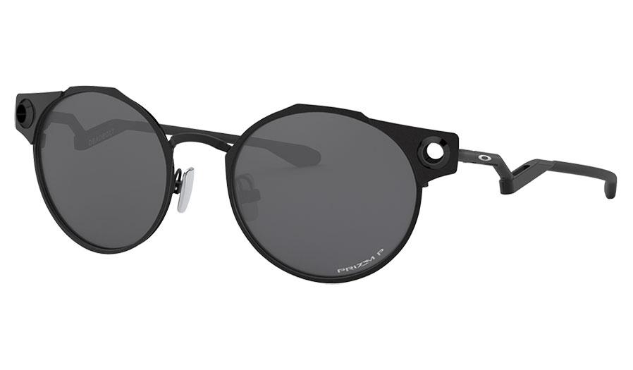 Oakley Deadbolt Sunglasses - Satin Black / Prizm Black Polarised