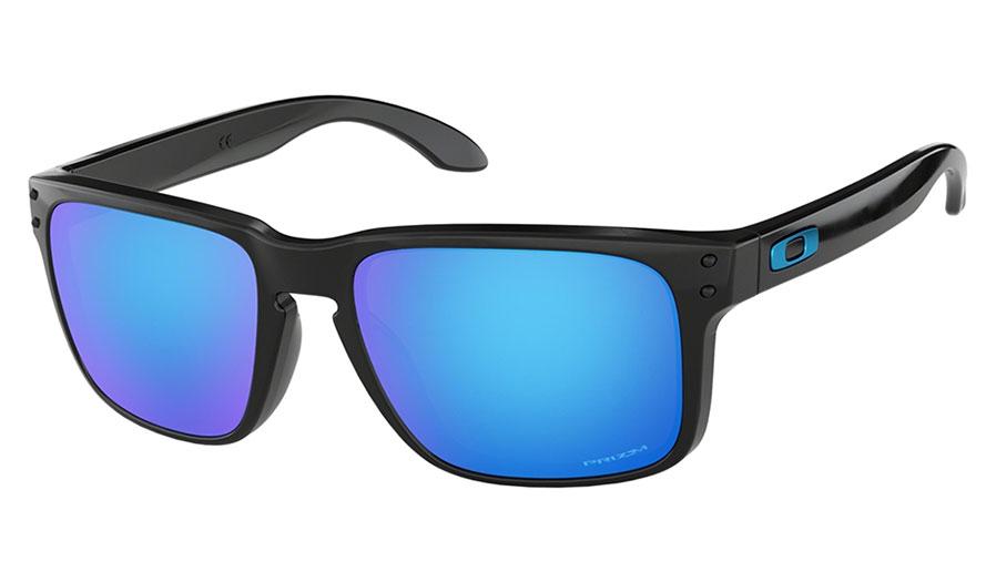 Oakley Holbrook Sunglasses - Polished Black / Prizm Sapphire