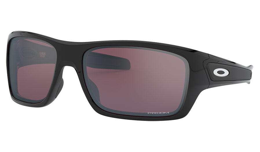Oakley Turbine Sunglasses - Polished Black / Prizm Snow Black