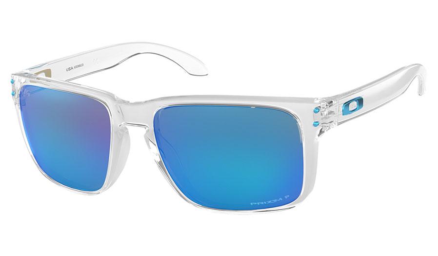 31867e25e3f3 Oakley Holbrook XL Sunglasses - Polished Clear / Prizm Sapphire ...