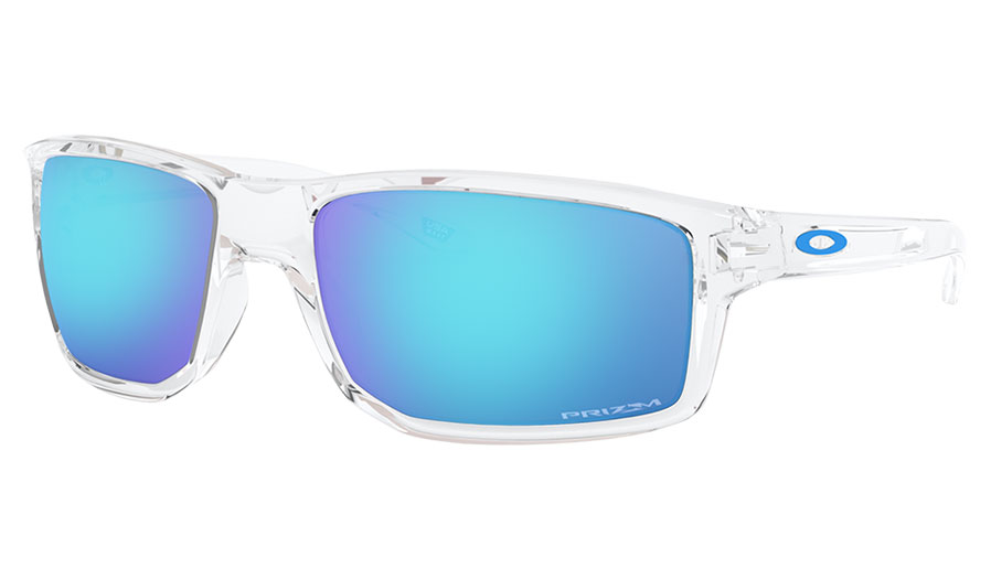 Oakley Gibston Sunglasses - Polished Clear / Prizm Sapphire