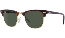Ray-Ban RB3016 Clubmaster Sunglasses - Tortoise & Gold / Green (G-15)