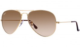 Ray-Ban RB3025 Aviator Sunglasses - Gold / Brown Gradient