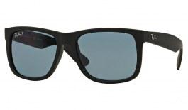 Ray-Ban RB4165 Justin Sunglasses - Black Rubber / Blue Classic Polarised