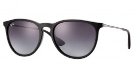 Ray-Ban RB4171 Erika Sunglasses - Black Rubber / Grey Gradient