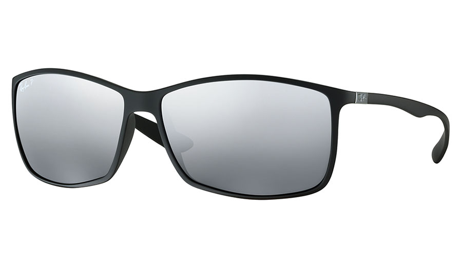 557f3fd0d5 1. 2. PrevNext. Ray-Ban RB4179 Liteforce Sunglasses - Matte Black   Polarised  Silver Mirror