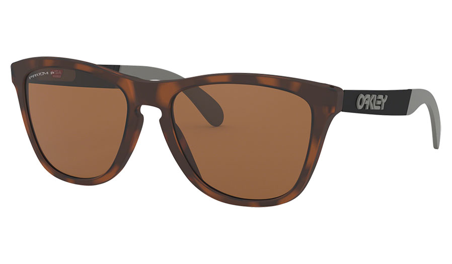 Oakley Frogskins Mix Sunglasses - Matte Brown Tortoise / Prizm Tungsten Polarised
