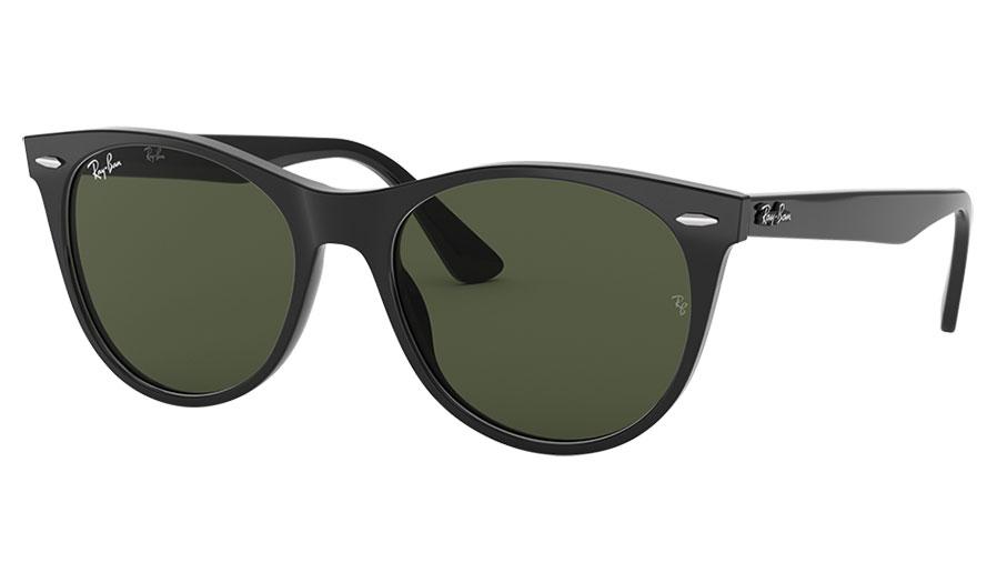 Ray-Ban RB2185 Wayfarer II Sunglasses - Black / Green
