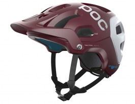 POC Tectal Race SPIN Mountain Bike Helmet - Propylene Red & Hydrogen White