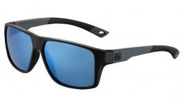 Bolle Brecken Floatable Sunglasses - Black Grey / Offshore Blue HD Polarised