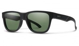 Smith Lowdown Slim 2 Sunglasses - Matte Black / ChromaPop Grey Green Polarised