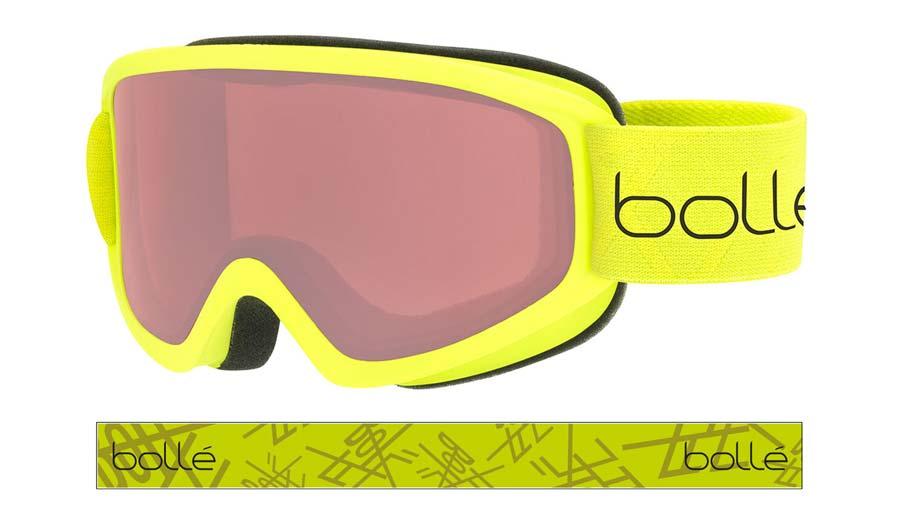 Bolle Freeze Ski Goggles - Matte Lime / Vermillon