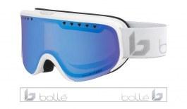 Bolle Scarlett Prescription Ski Goggles - Matte White & Silver Corp / Phantom+ Polarised Photochromic