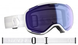 Scott Faze II Ski Goggles - White / Illuminator Blue Chrome