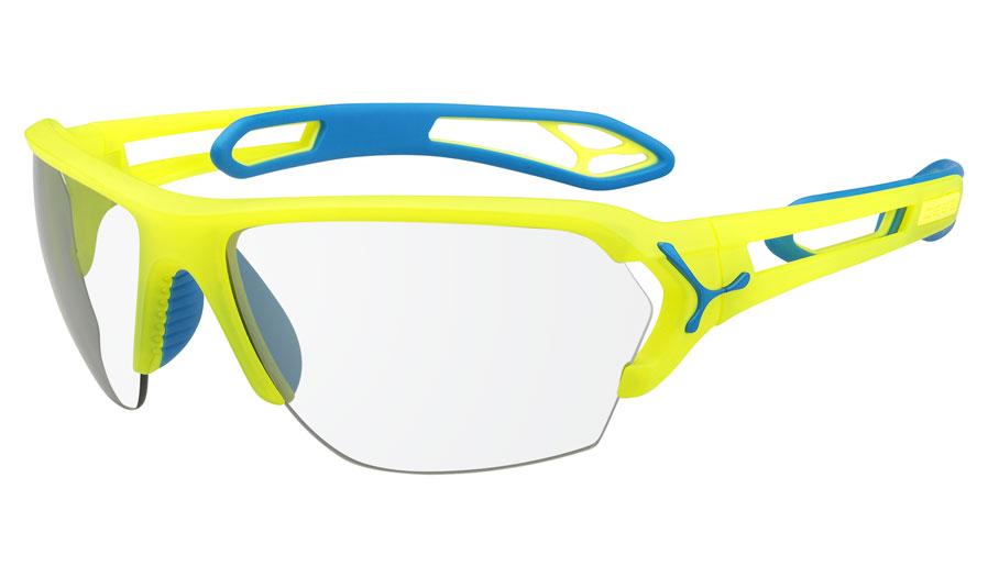 Cébé Sonnenbrille S'track L Pro, Neon Yellow Vario Perfo/Clear, CBSTLPRO