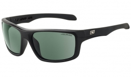 Dirty Dog Axle Sunglasses - Black / Green Polarised