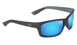 Maui Jim Kanaio Coast Sunglasses - Matte Translucent Blue Black / Blue Hawaii Polarised