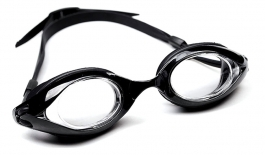 Long Sail Prescription Swimming Goggles - Black