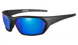 Wiley X Ignite Sunglasses - Matte Black / Green Blue Mirror Polarised