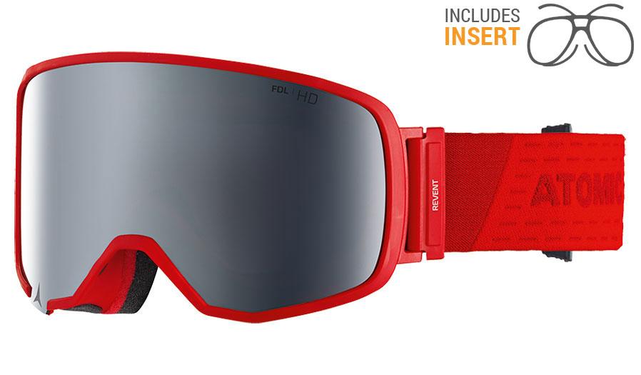 bab6d437e17 Atomic Revent L Prescription Ski Goggles - Red   Silver Stereo HD - RxSport