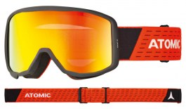 Atomic Count Jr Cylindrical Ski Goggles - Black Red / Red Flash