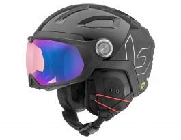 Bolle V-Ryft MIPS Ski Helmet - Shiny Black / Phantom Blue Photochromic