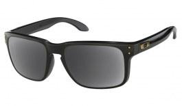 Oakley Holbrook Prescription Sunglasses - Polished Black (Gold Icon)