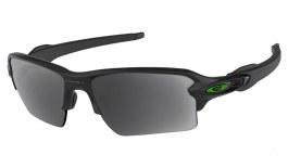 Oakley Flak 2.0 XL Prescription Sunglasses - Matte Black (Green Icon)