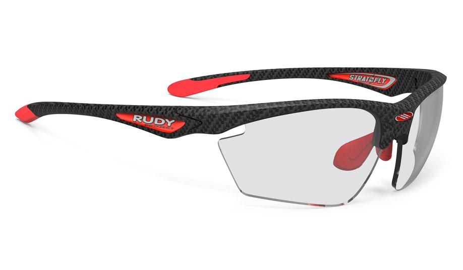 1672e49f976 Rudy Project Stratofly Directly Glazed Prescription Sunglasses - Carbonium    Red - RxSport