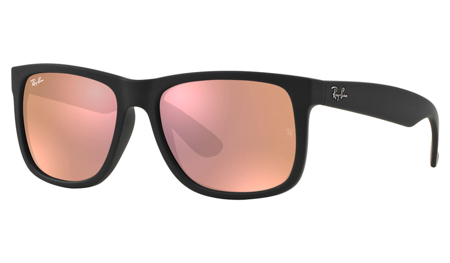 3c9ce12d787 Ray-Ban RB4165 Justin Prescription Sunglasses - Black Rubber - RxSport