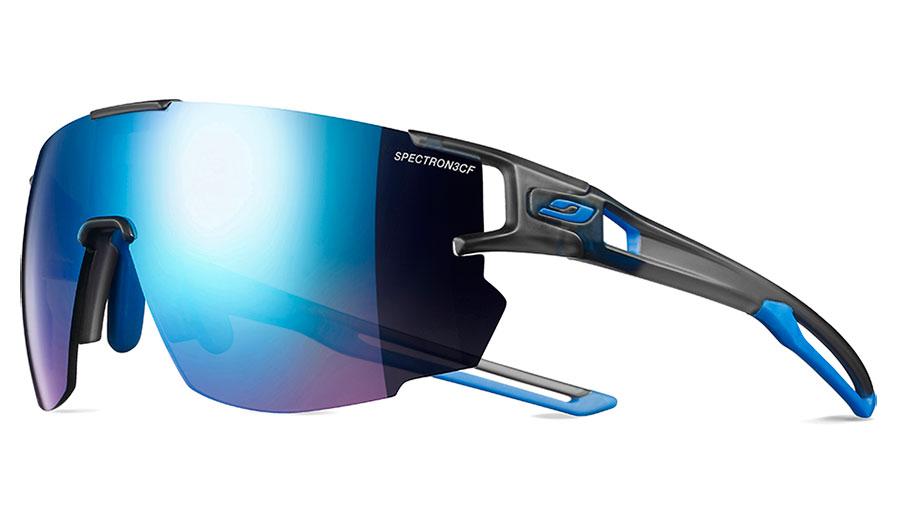 Julbo Aerospeed Prescription Sunglasses - Clip-On Insert - Translucent Grey & Blue / Spectron 3CF Blue