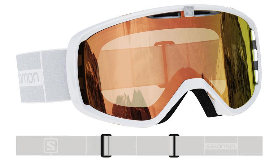 Salomon Aksium Ski Goggles - White / All Weather Red Photochromic