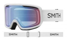 Smith Frontier Ski Goggles - White / Blue Sensor Mirror
