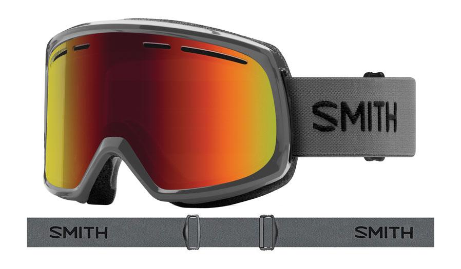 Smith Range Prescription Ski Goggles - Charcoal / Red Sol-X Mirror