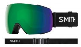 Smith Optics I/O MAG Ski Goggles - Black / ChromaPop Sun Green Mirror + ChromaPop Storm Rose Flash