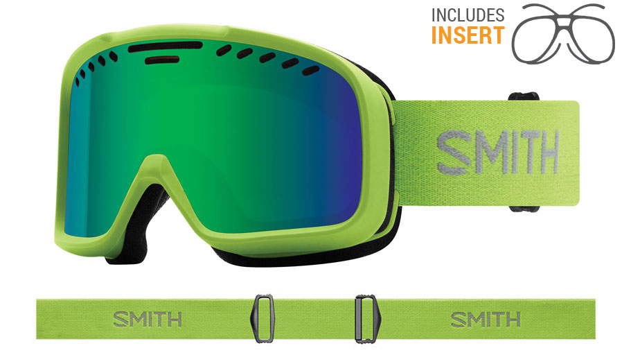 Smith Optics Project Prescription Ski Goggles - Flash / Green Sol-X Mirror