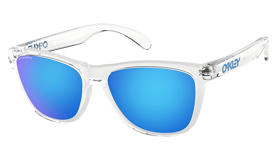 Oakley Frogskins Sunglasses - Crystal Clear / Prizm Sapphire