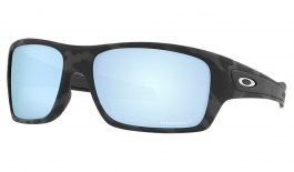 Oakley Turbine Sunglasses - Matte Black Camo / Prizm Deep Water Polarised