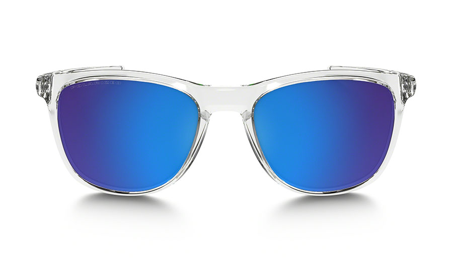 a170a27f523 Oakley Trillbe X Sunglasses - Polished Crystal Clear   Sapphire ...